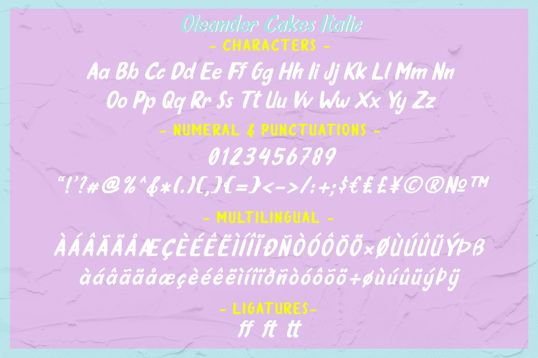 Oleander Cakes - Sweet Handmade Font example image 8