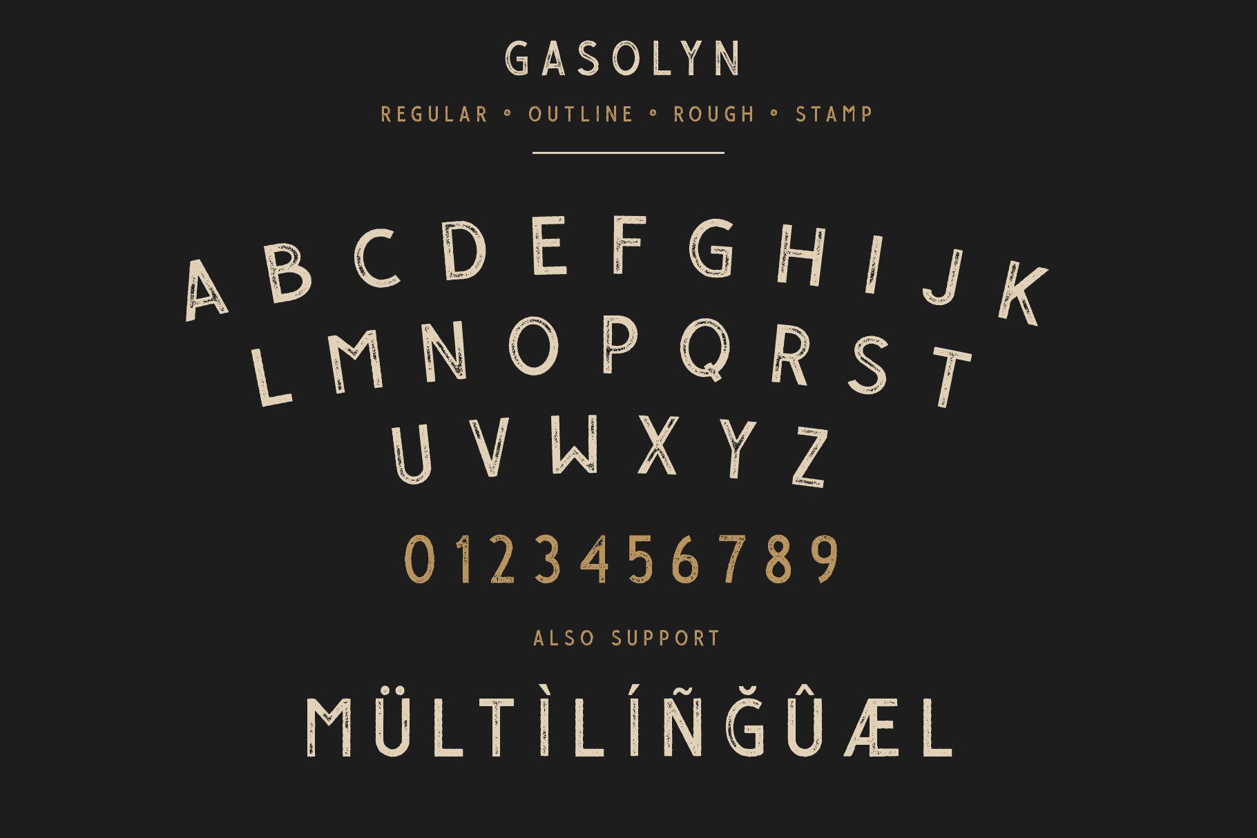Gasolyn Font Family Bonus Extras example image 4