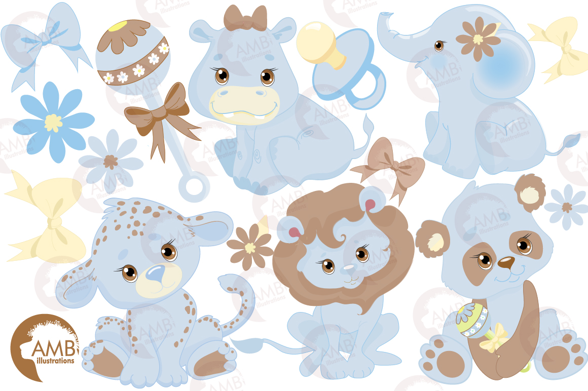 Blue Jungle Babies clipart, AMB-1211 example image 5