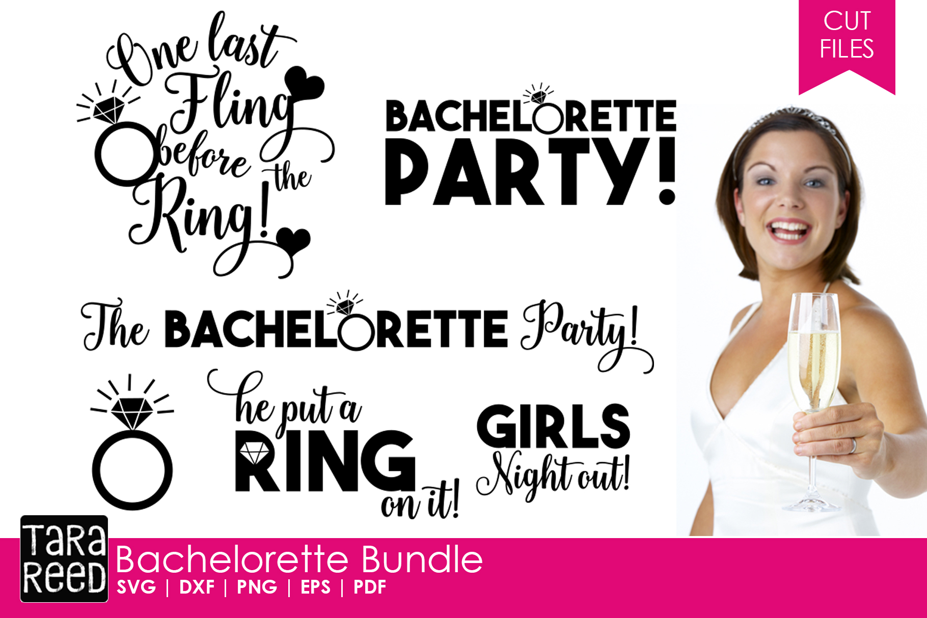 Here Comes the Bride MEGA Bundle - Wedding SVG and Cut Files example image 5