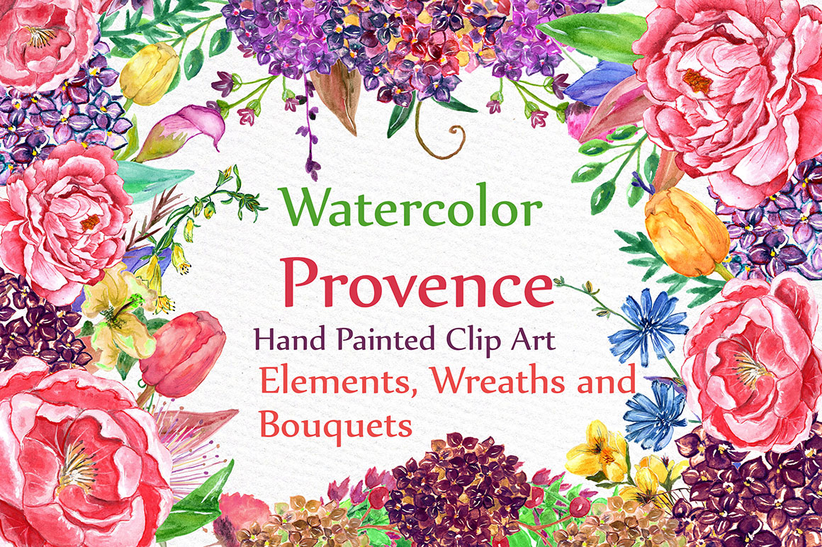 Watercolor wedding flowers example image 1