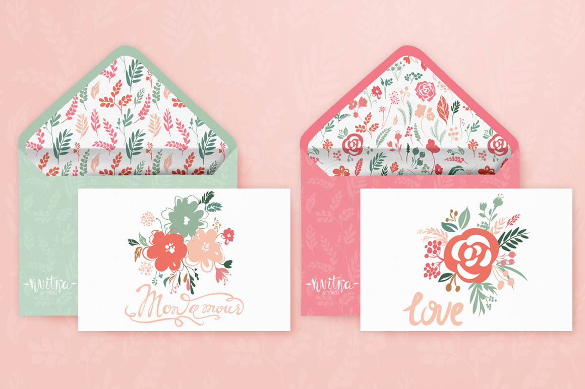 Vector Floral, patterns & hearts example image 3