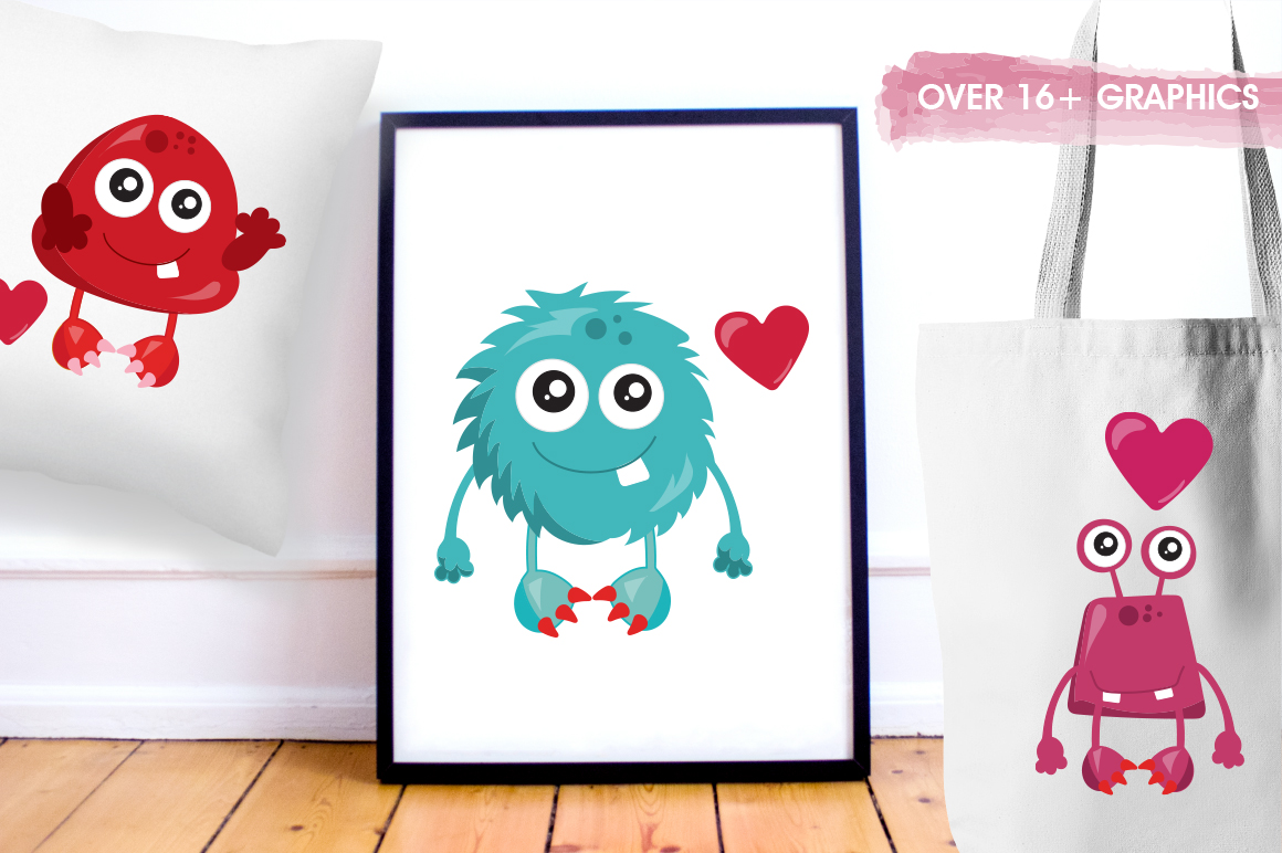 Love Monster graphic and illustrations example image 3