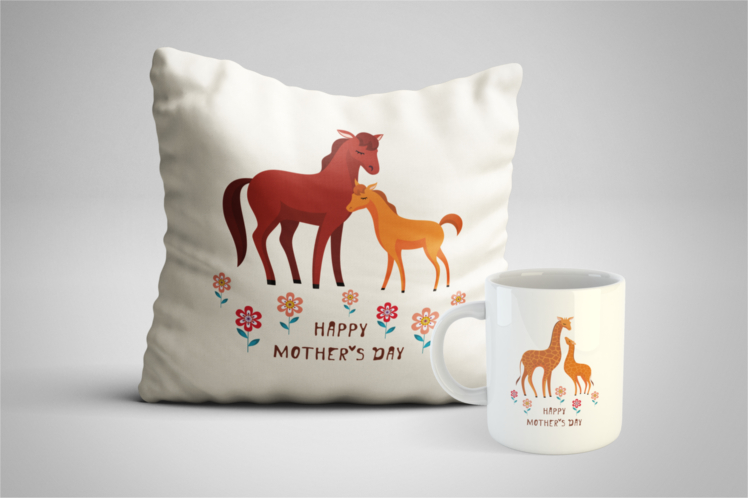 Cute animals - 2. Mothers Day set. example image 3