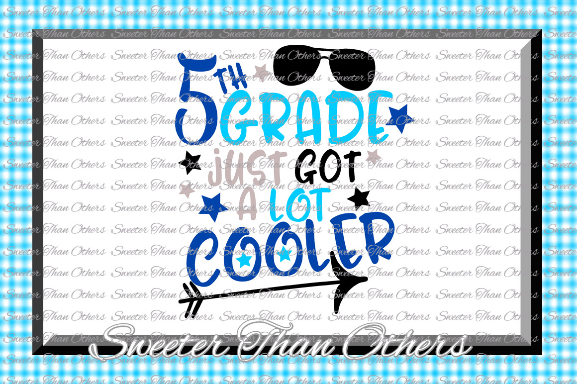 Fifth Grade cooler SVG 5th Grade cut file First Day of Schoo example image 1