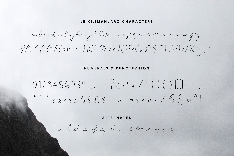 Le Kilimanjaro - A Signature Script example image 7