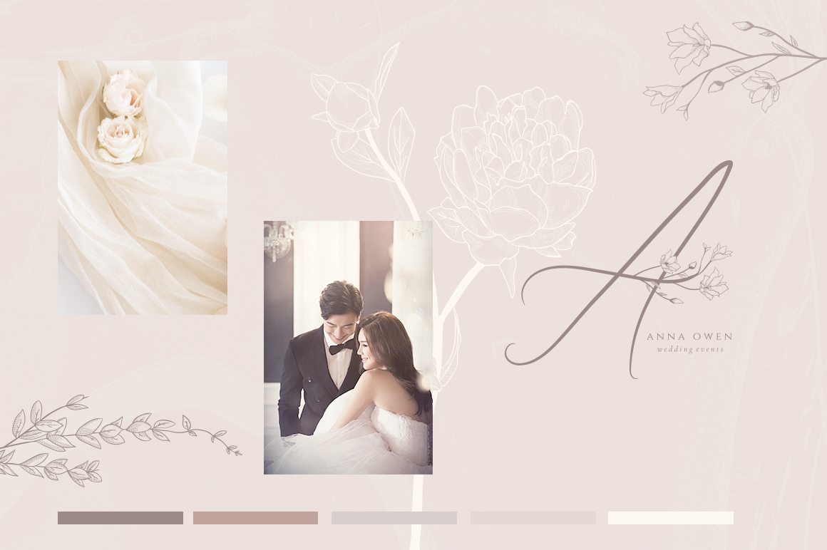 Flowered Monogram & Logo Collection example image 11
