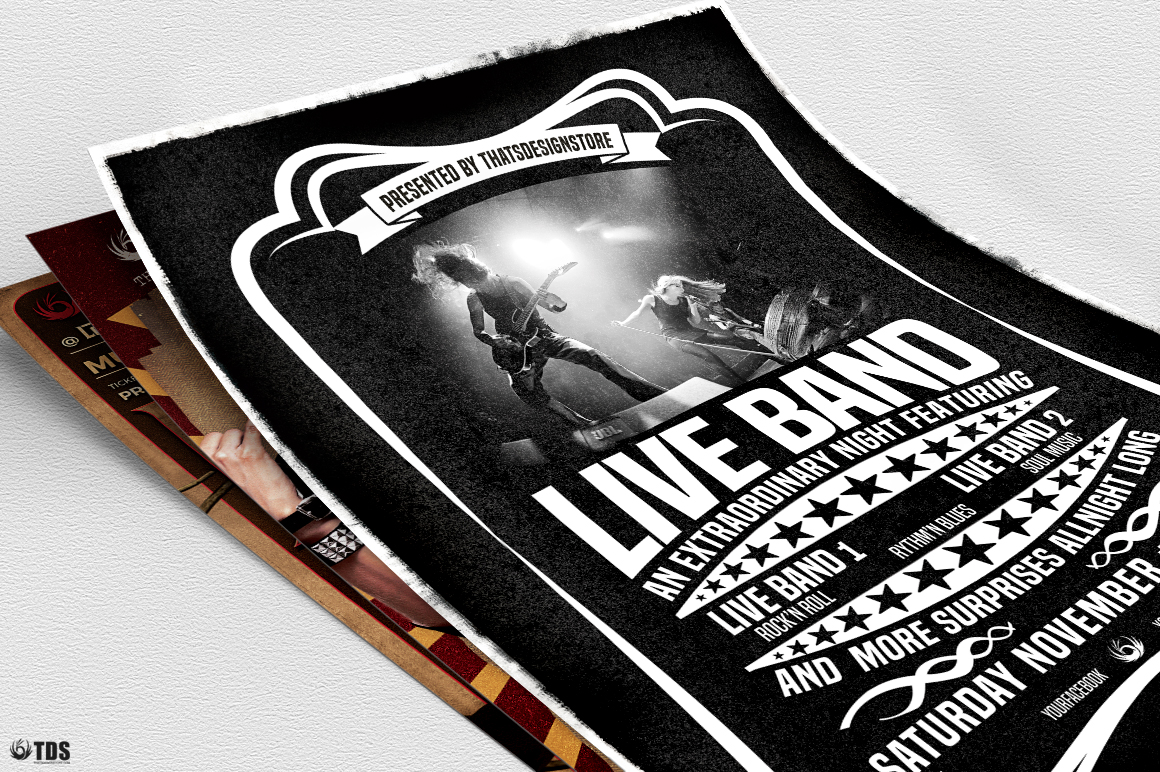 Live Band Flyer Bundle V1 example image 5