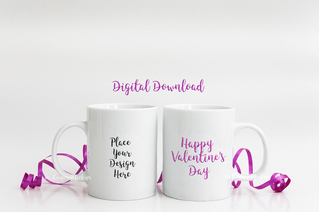 2 Coffee mug mockups pair of mugs cup templates example image 3