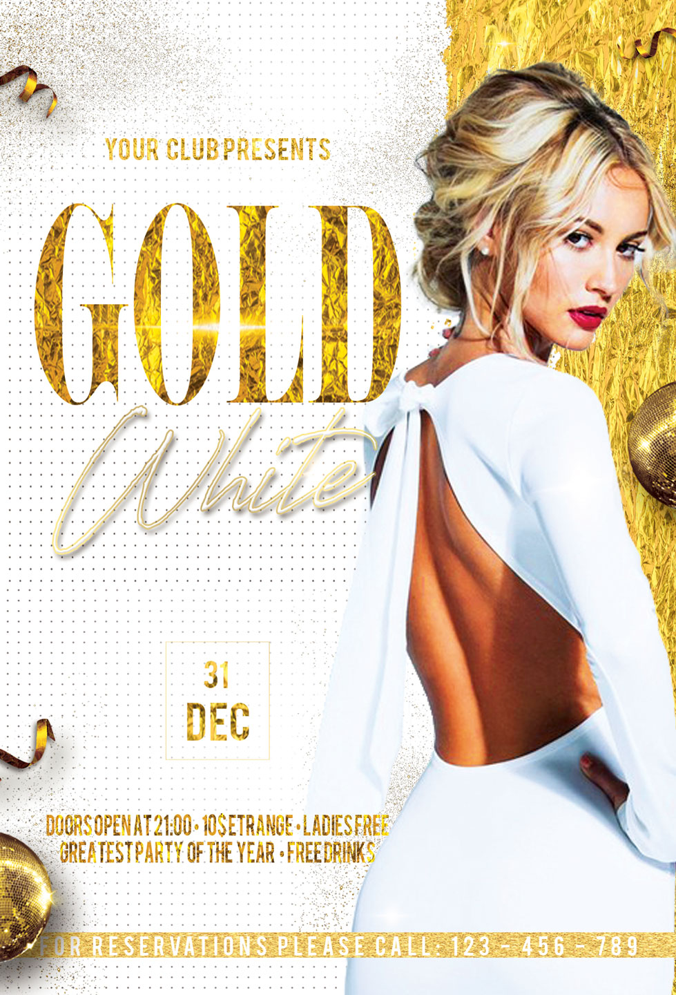 Gold And White Flyer example image 3