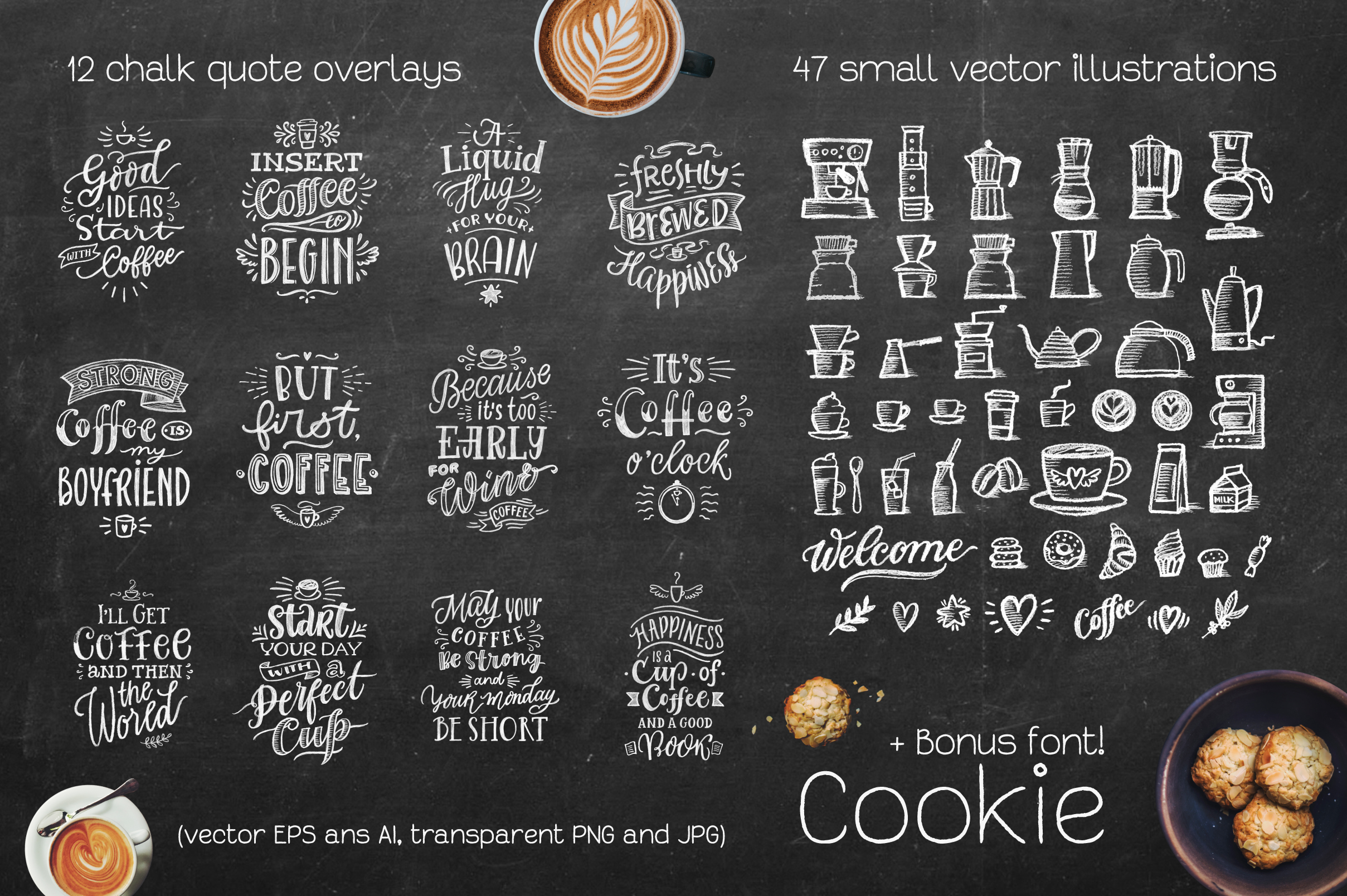 Coffee Chalk Letterings example image 2