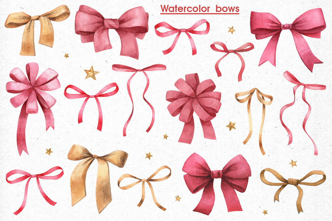 Ribbons, Banners & Bows set example image 2