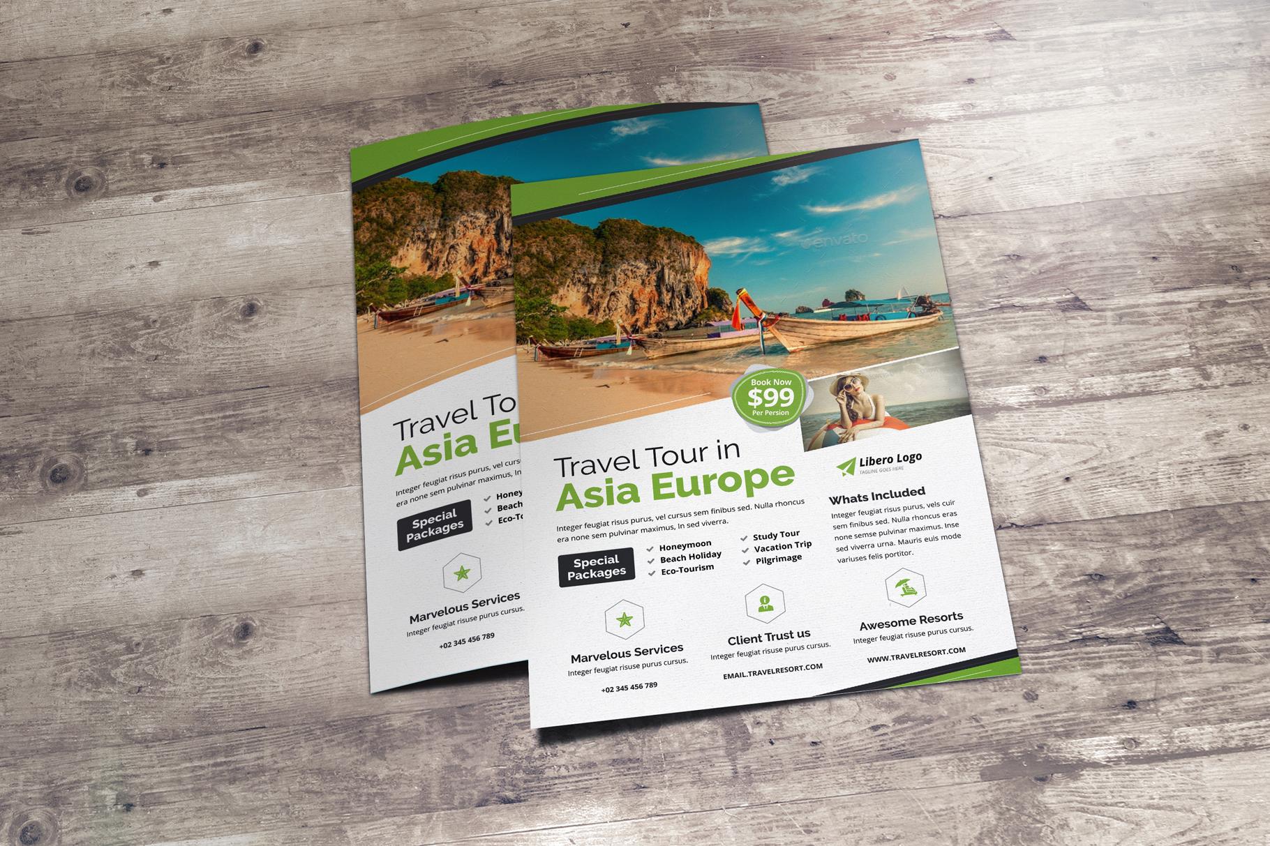 Travel Resort Flyer Design v2 example image 8