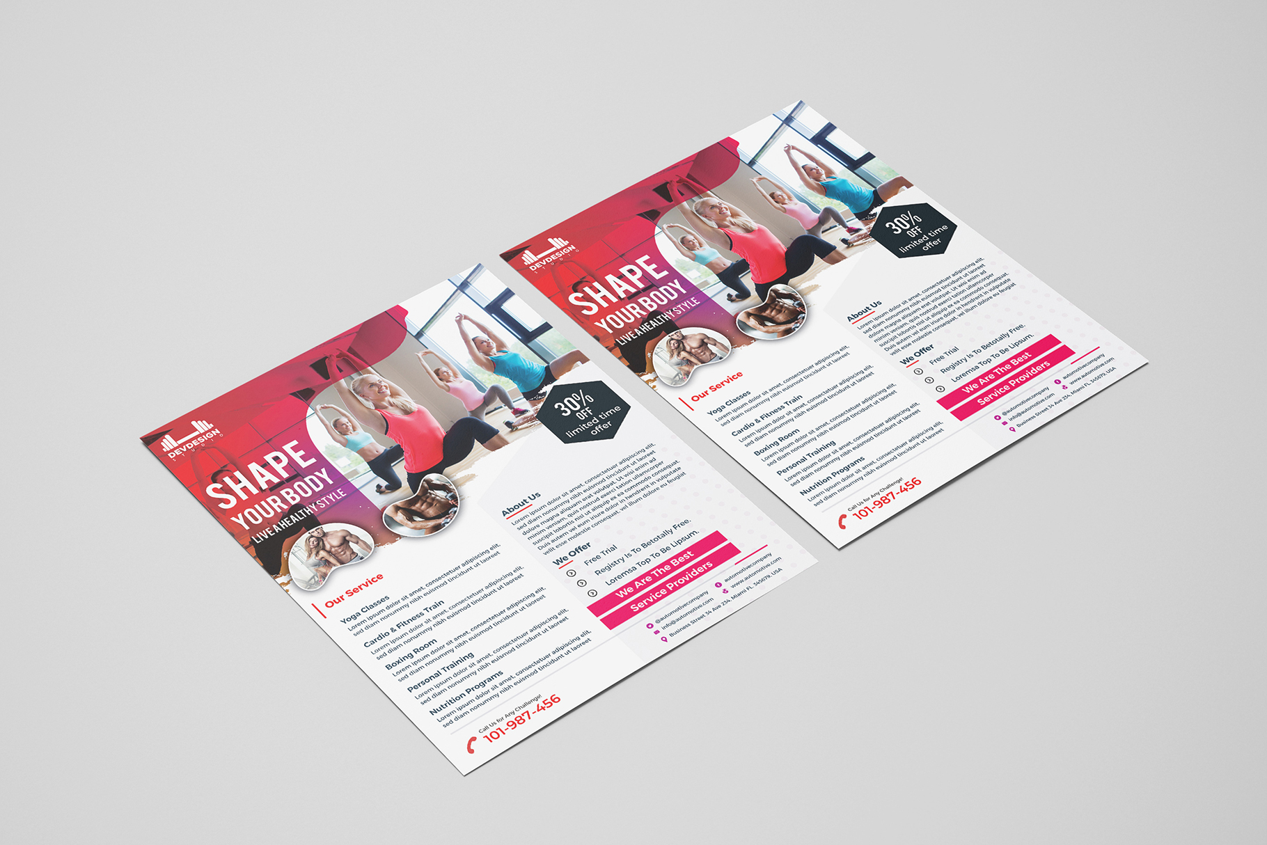 Modern GYM Flyer For GYM Business example image 3