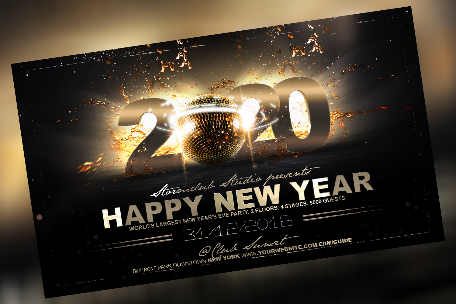 Happy New Year Flyer Template example image 1