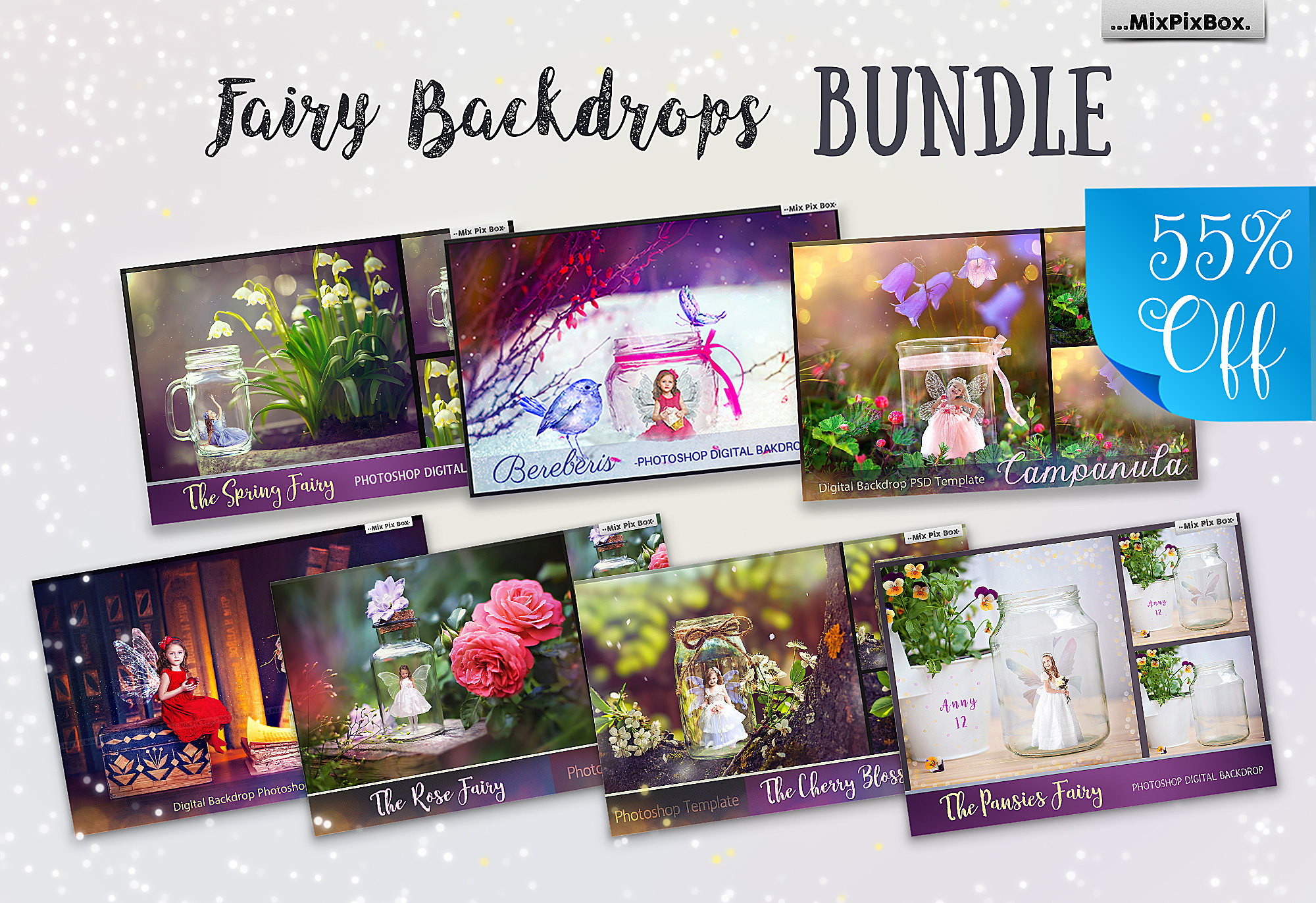 Fairy Backdrops Bundle example image 1