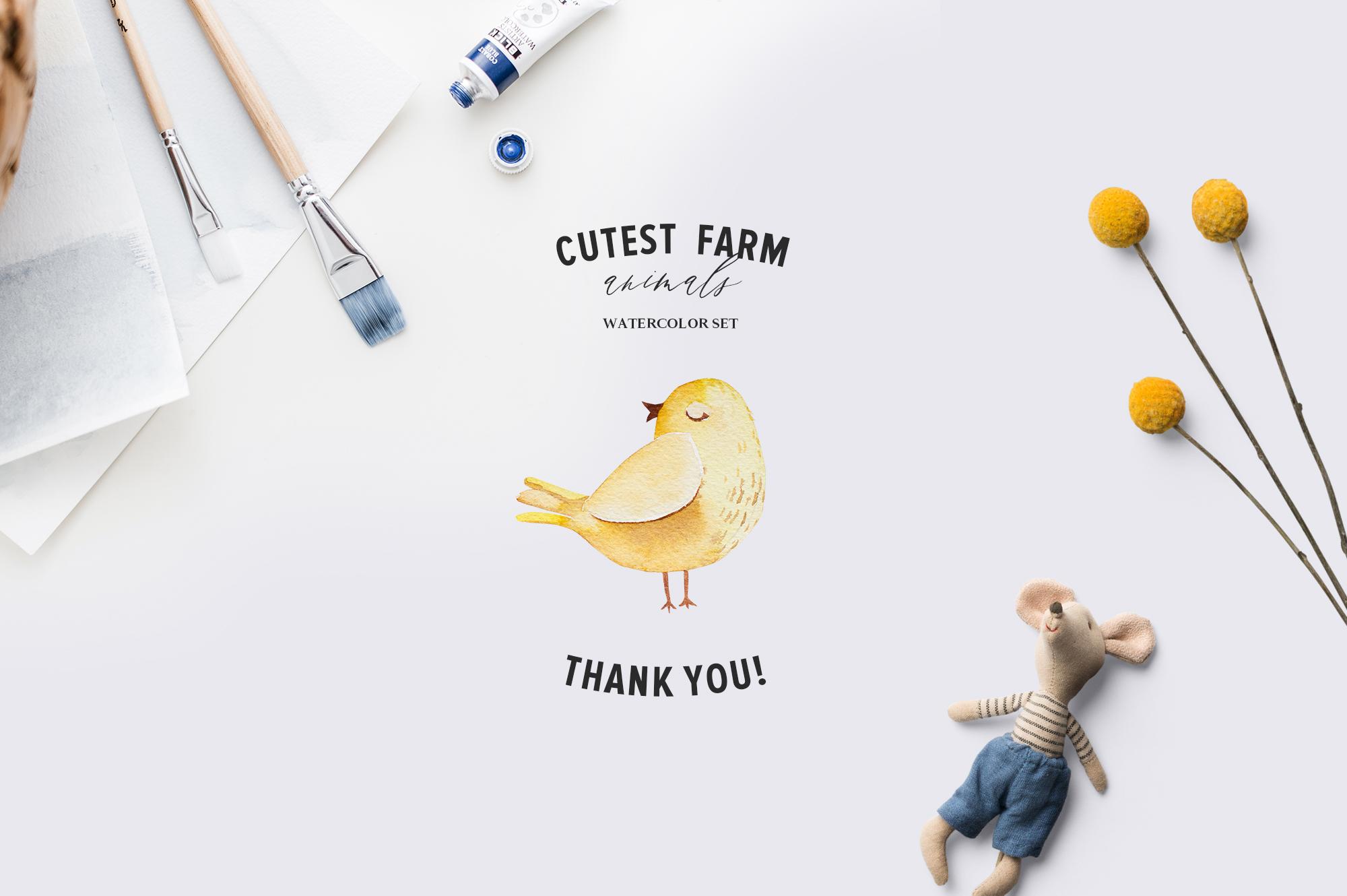 Cutest Farm Animals Set example image 13
