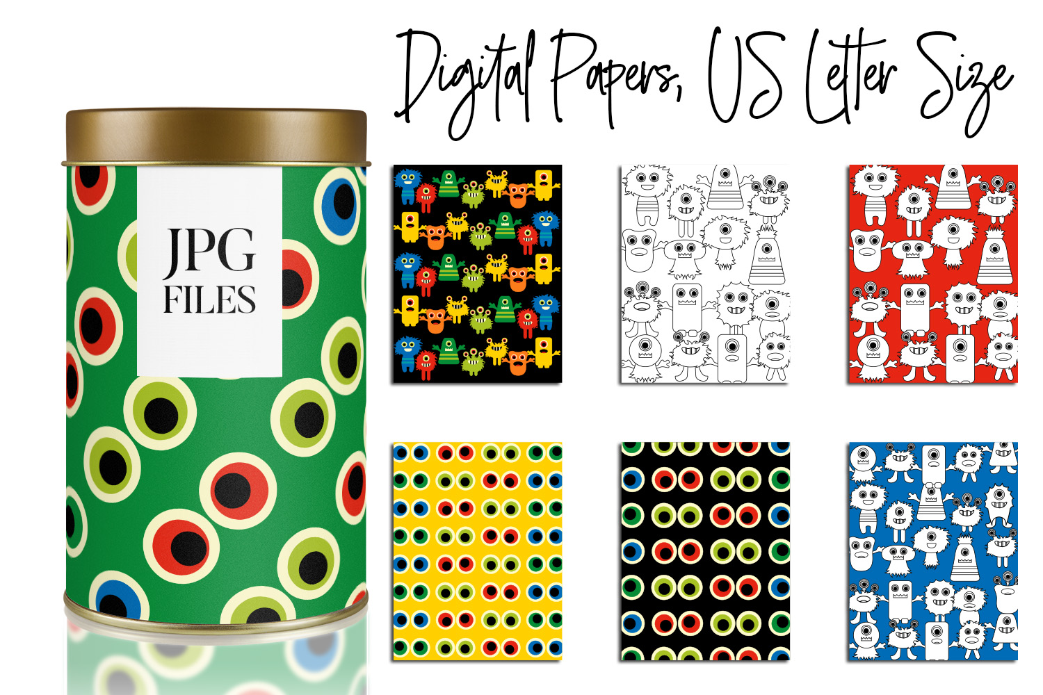 Digital Papers Bundle Vol. 2 - Background Patterns example image 29