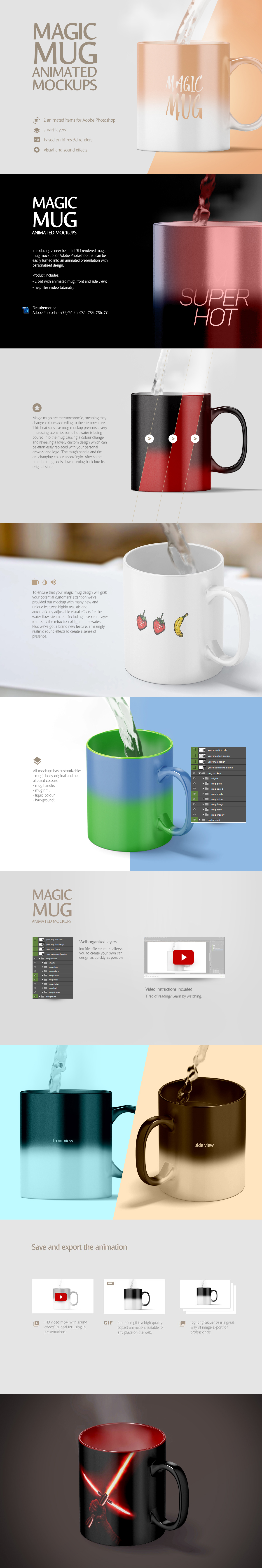 Mug Animated Mockups Bundle example image 5