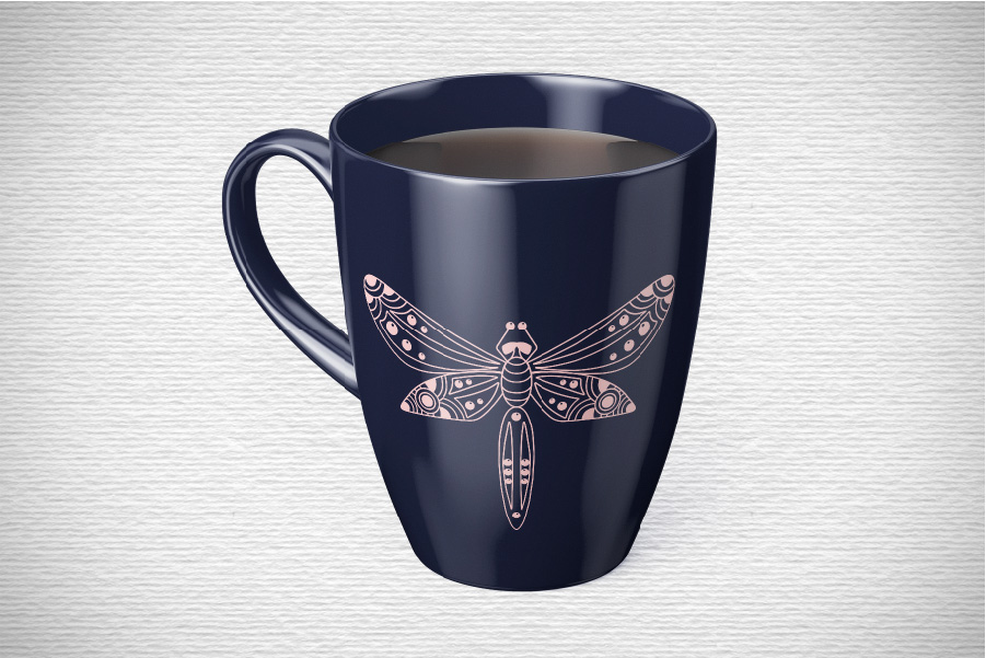 Doodle Dragonfly Beetle SVG example image 3