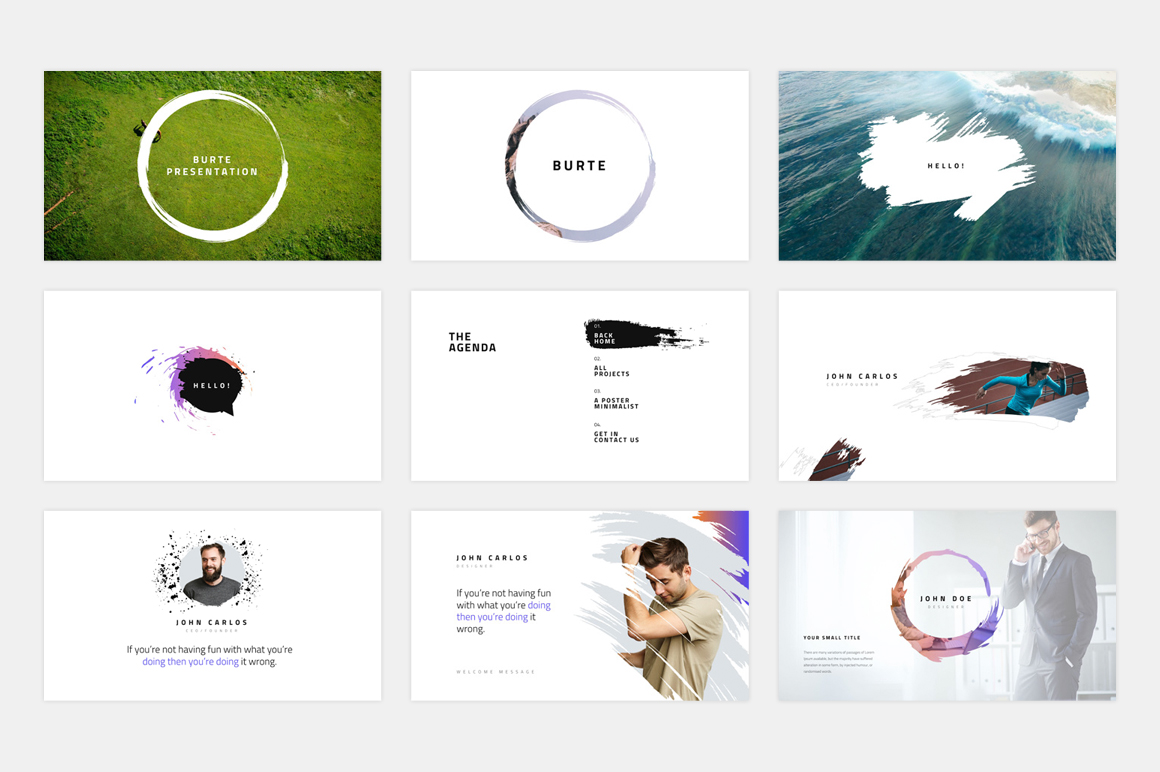 BURTE-Powerpoint Template example image 2