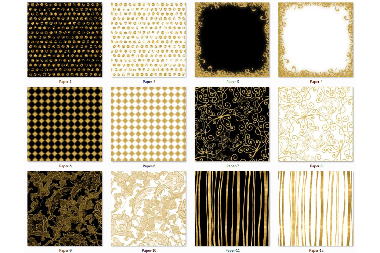 Golden Paper Collection - Paper 1 example image 2