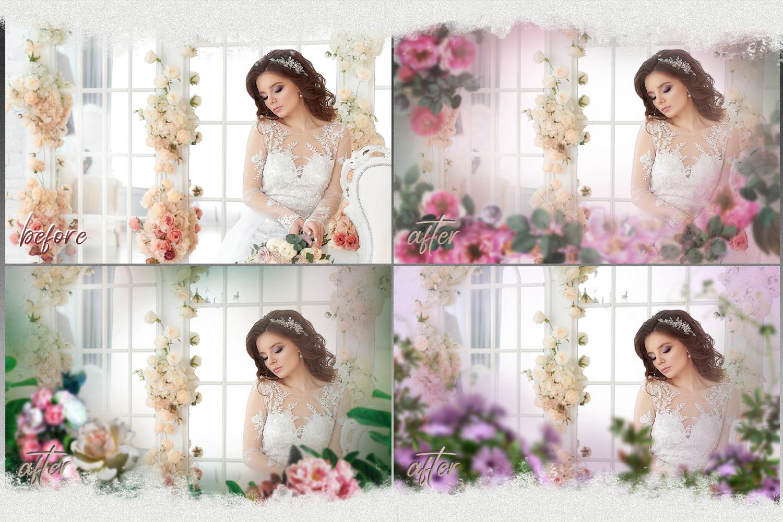Art flowers overlays frame templates wedding example image 2