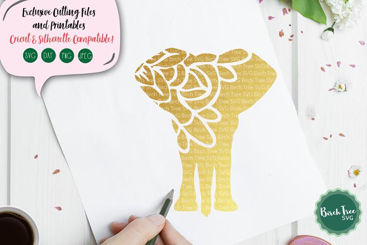 Elephant SVG, Elephant Mandala SVG, Elephant Cut File example image 1