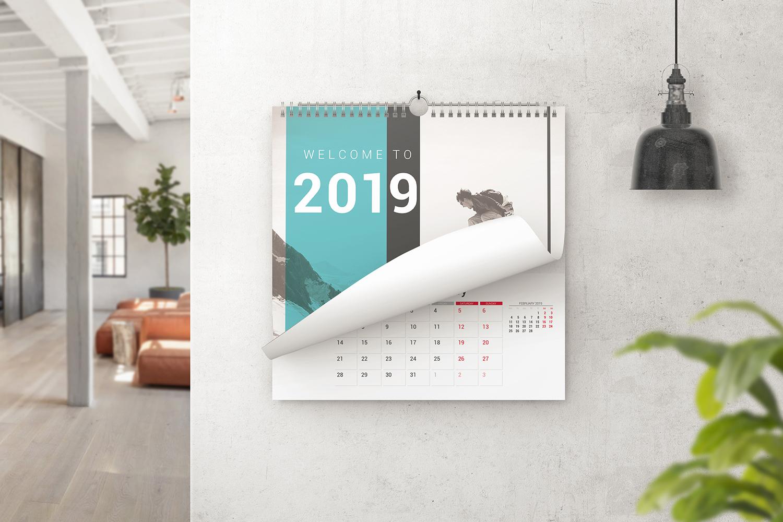Square Wall Calendar Mockups example image 2