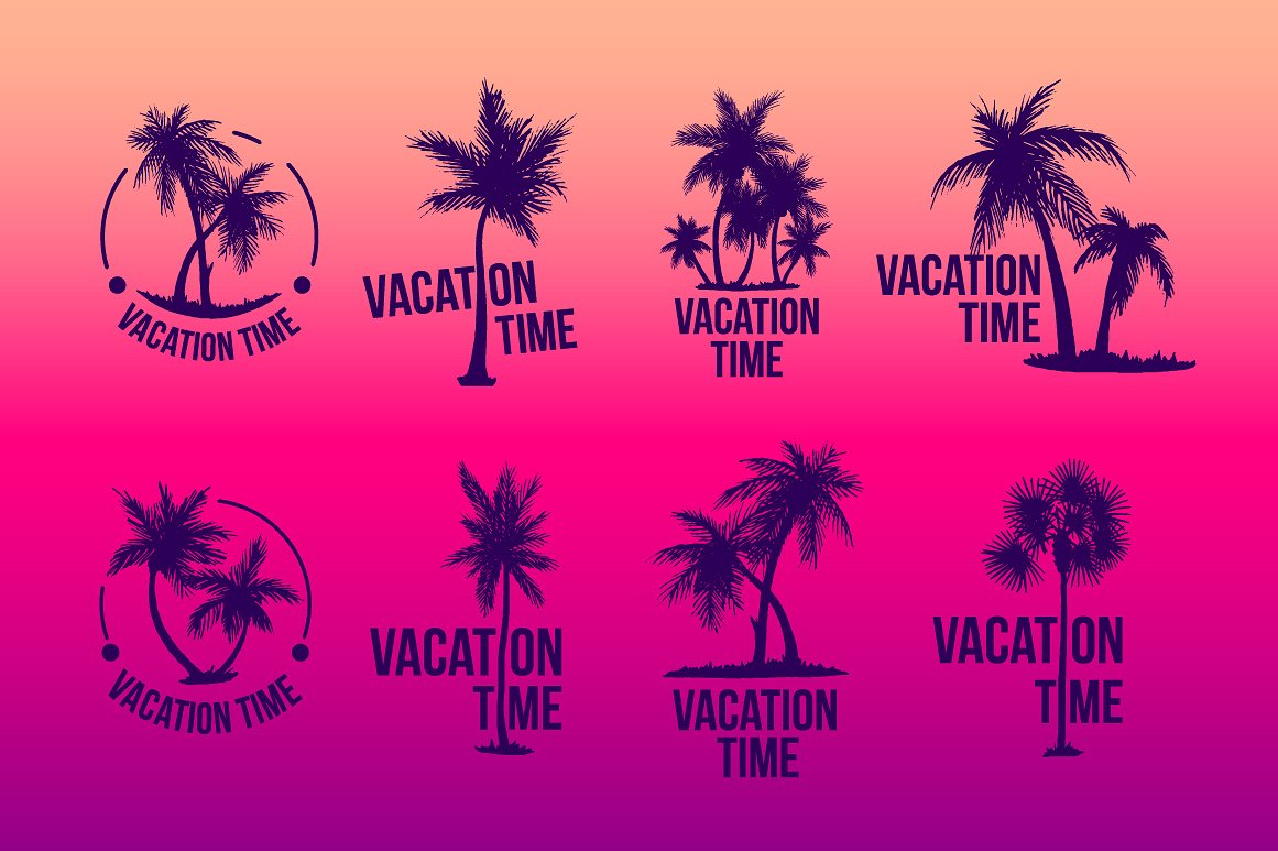 8 Tropical Palm logo illustration example image 3