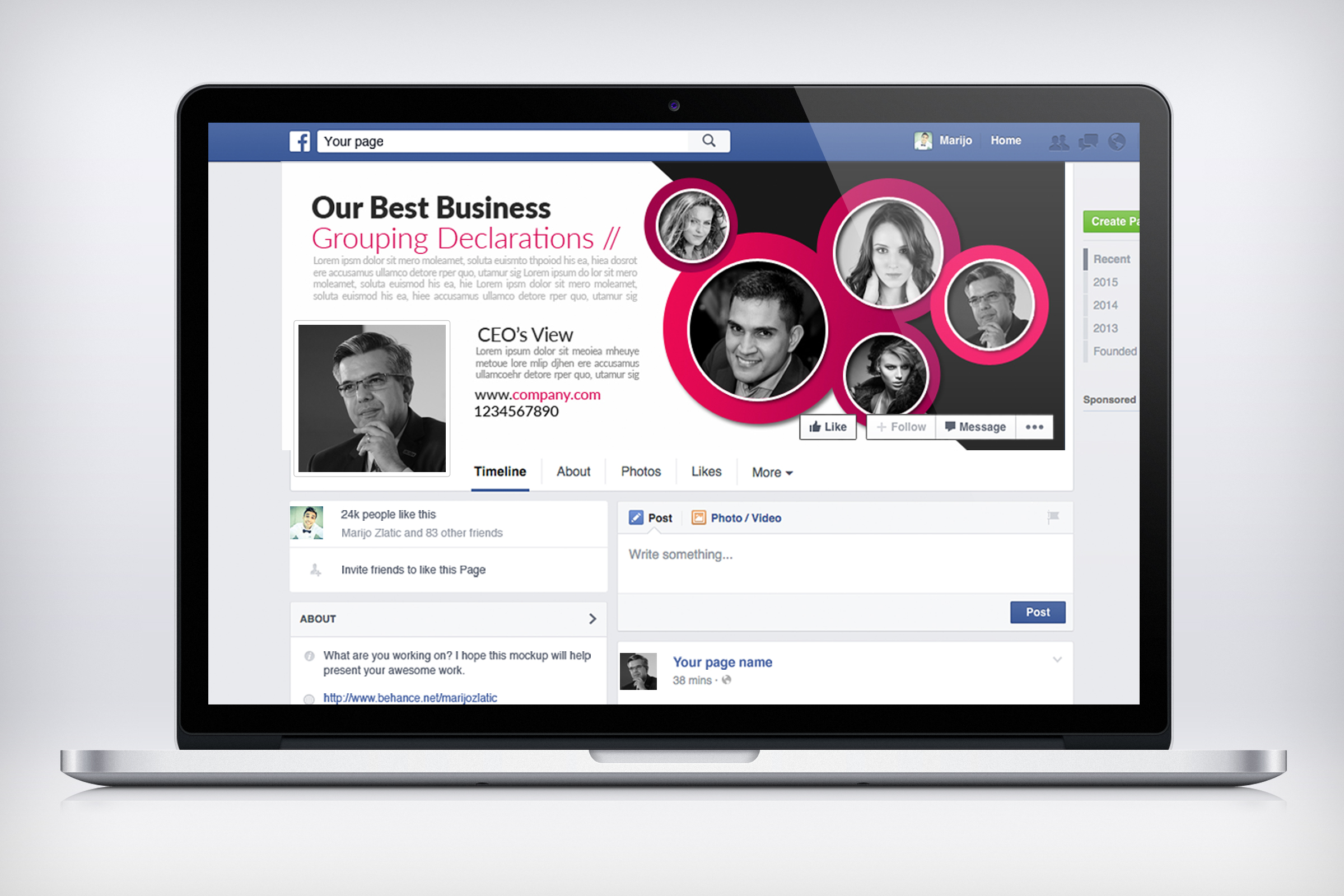 Business Facebook Timelines 09 example image 3