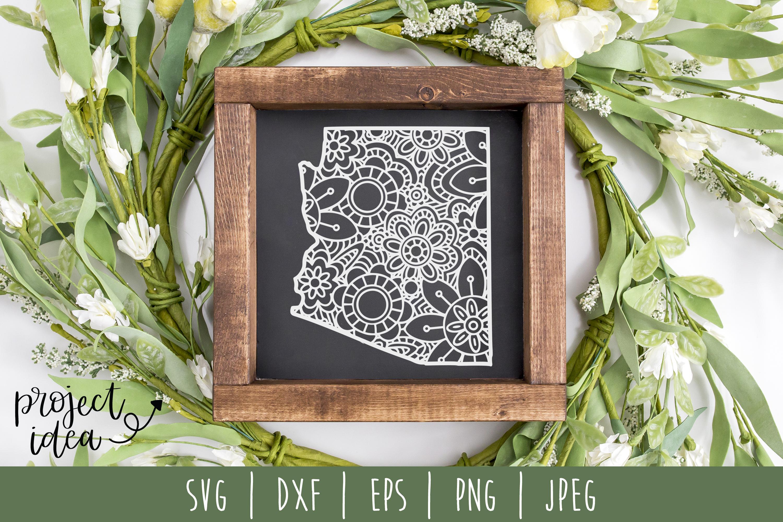 State Mandala Zentangle Bundle Set of 50 - USA SVG example image 11