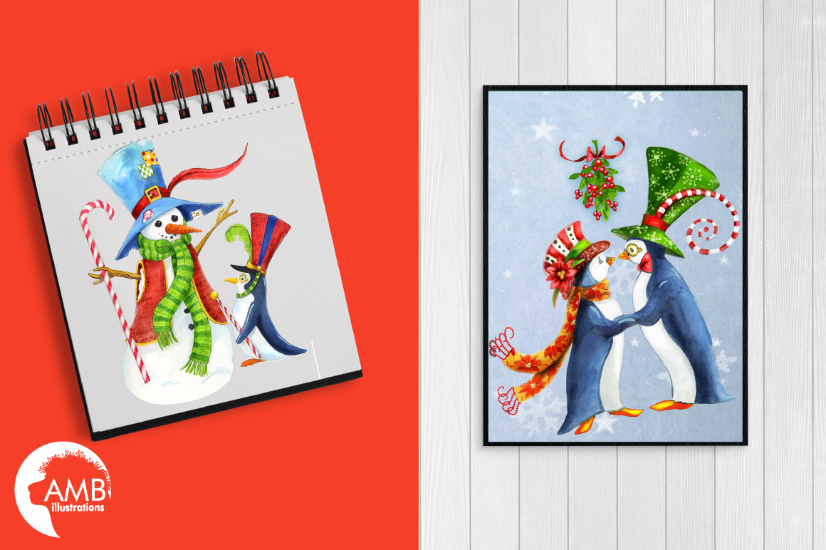 I love Christmas Bundle watercolor cliparts, graphics illustration AMB-1673 example image 4