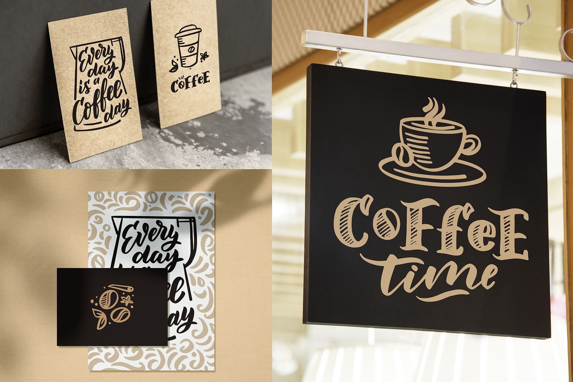 Coffee lettering clipart, vintage example image 8