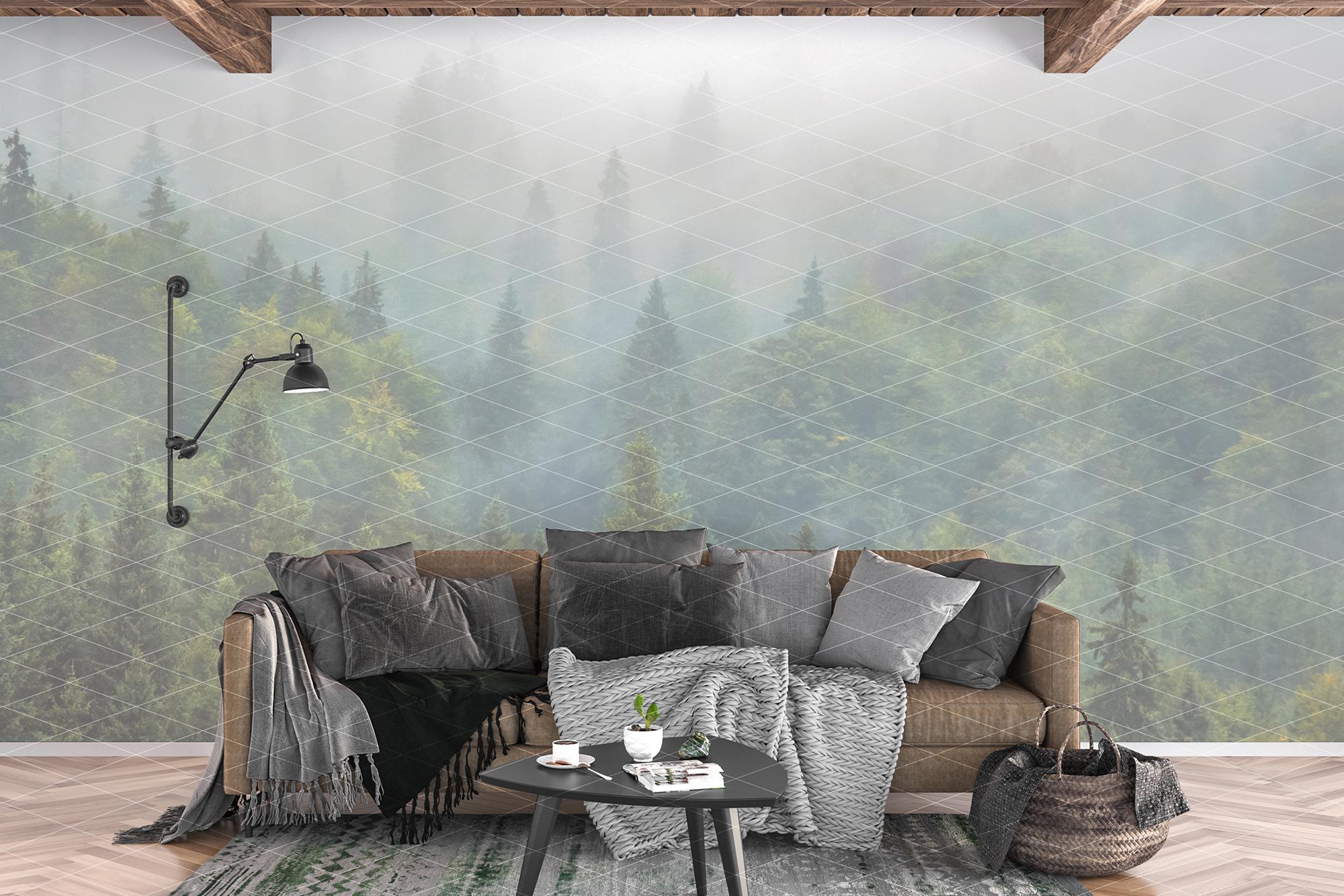 Wall mockup - wallpaper mock up example image 3