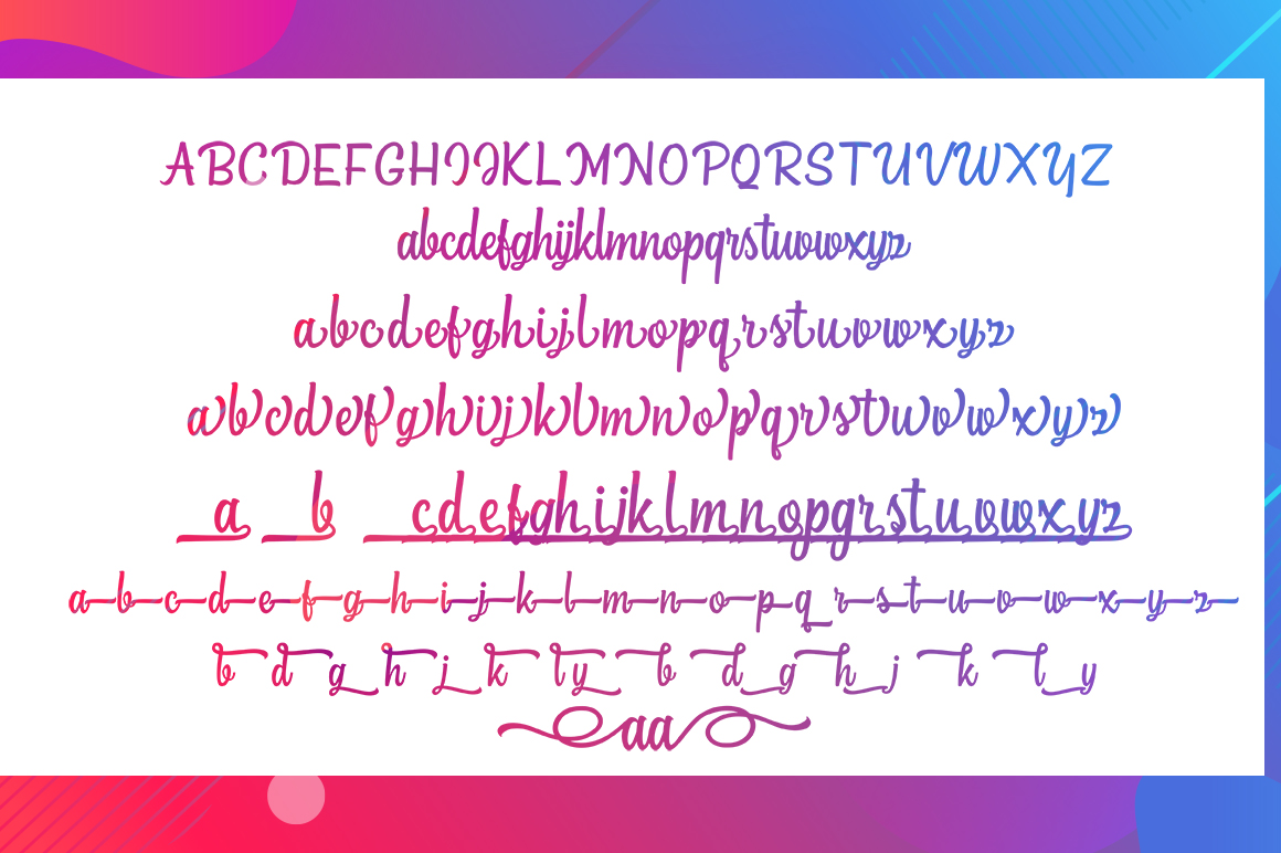The Bextrias Font Script example image 6