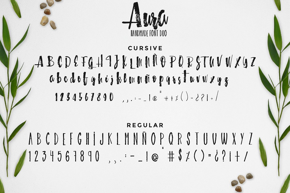 Aura handmade font duo example image 2