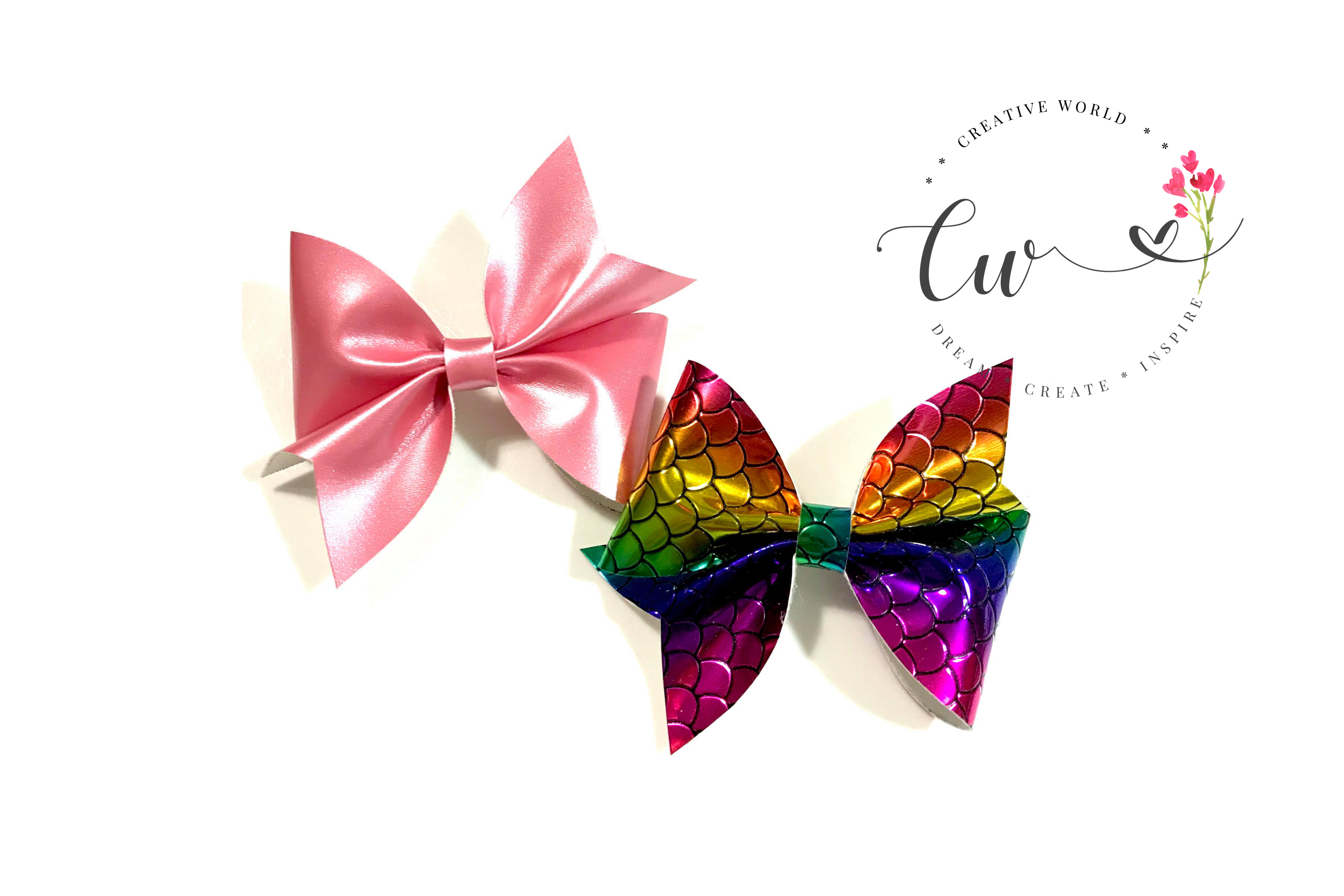 Lovely Classic Pinch Hair Bow Digital Template example image 1