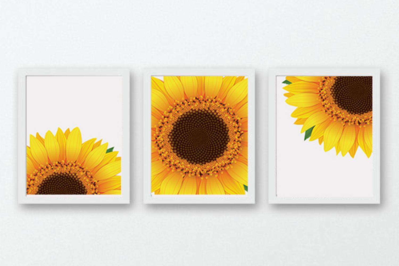 Sunflower Decor, Sunflower Wall Art, Yellow Wall Art example image 1