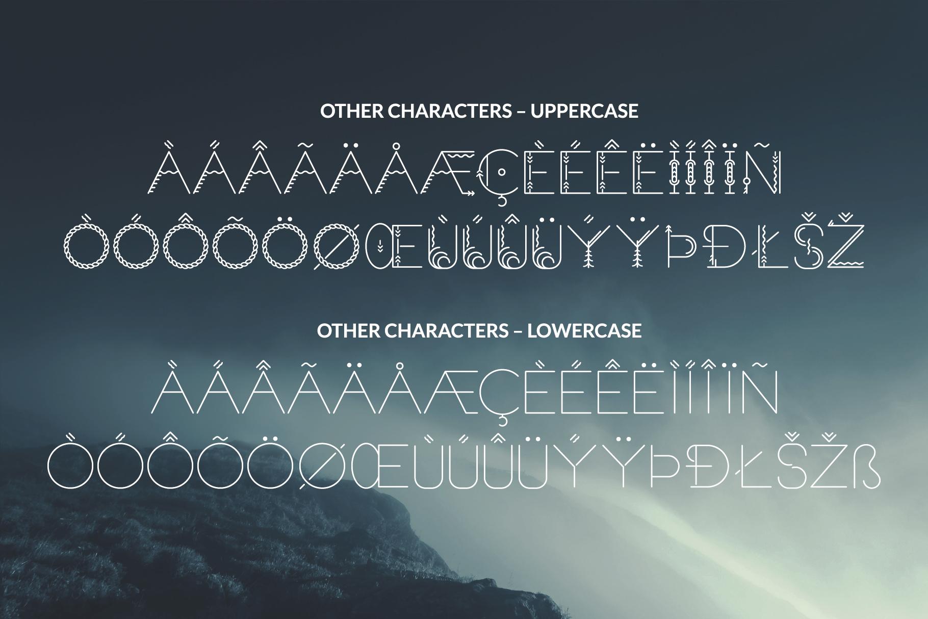 Sacred North Display Font example image 12