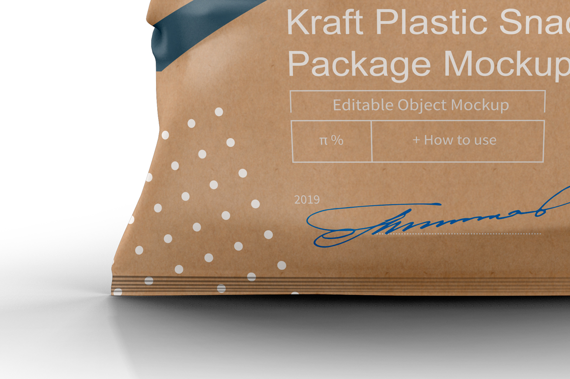 Kraft Plastic Snack Package Mockup example image 6