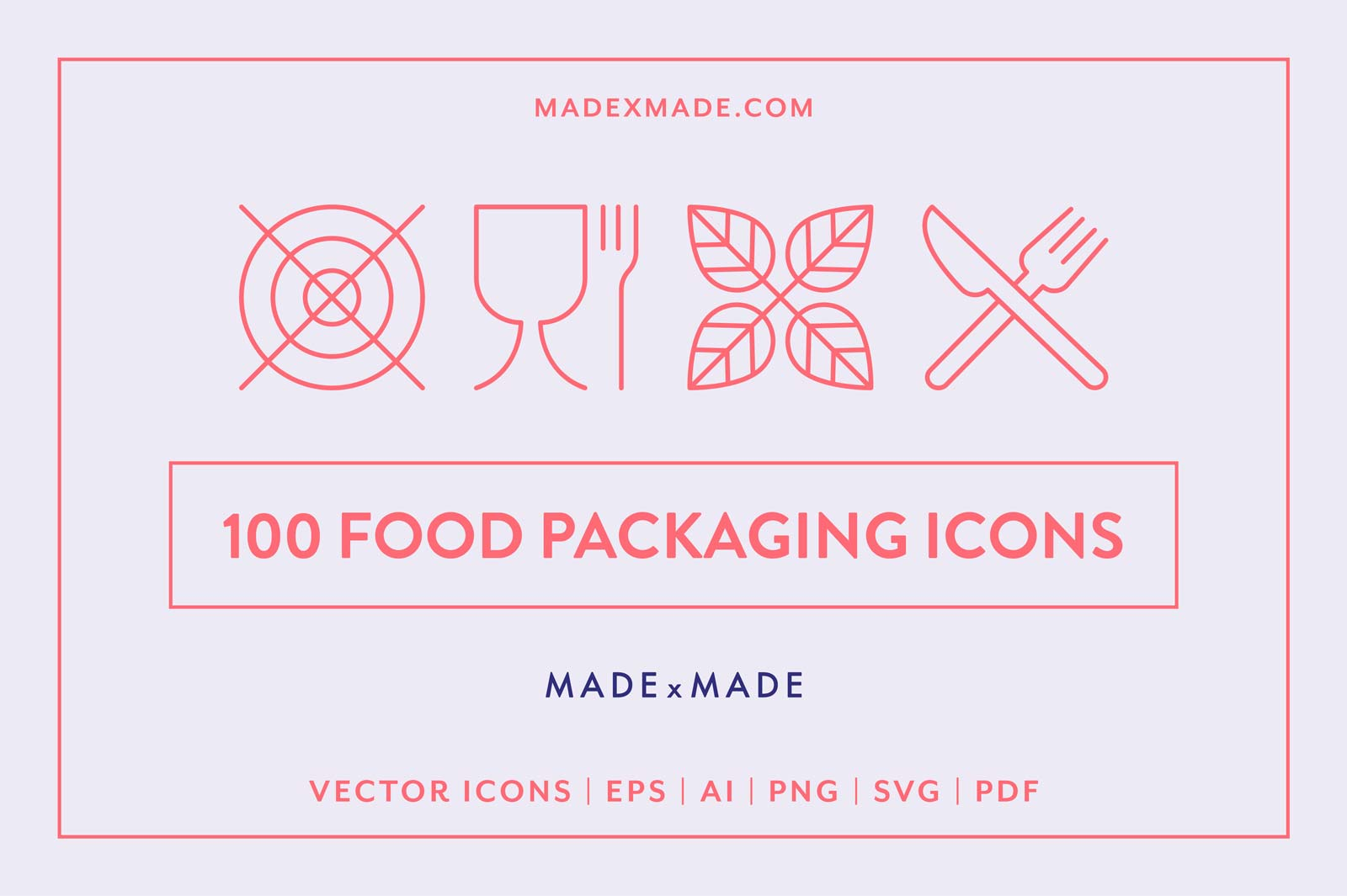 Line Icons - Food Packaging example image 1