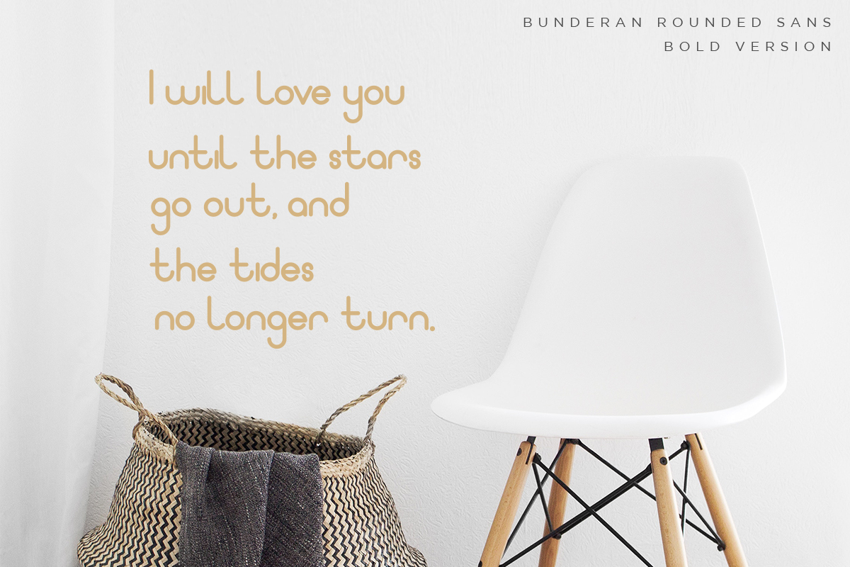 Bunderan Rounded Sans example image 5