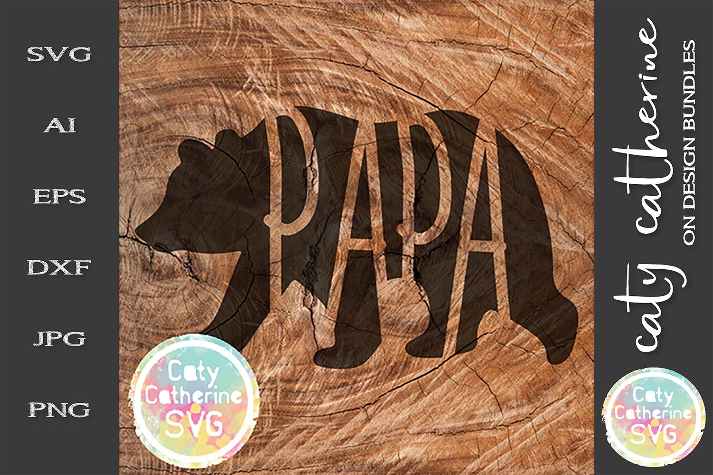 Mama Papa Baby SVG Tee Design Bear Detail Cut File example image 4