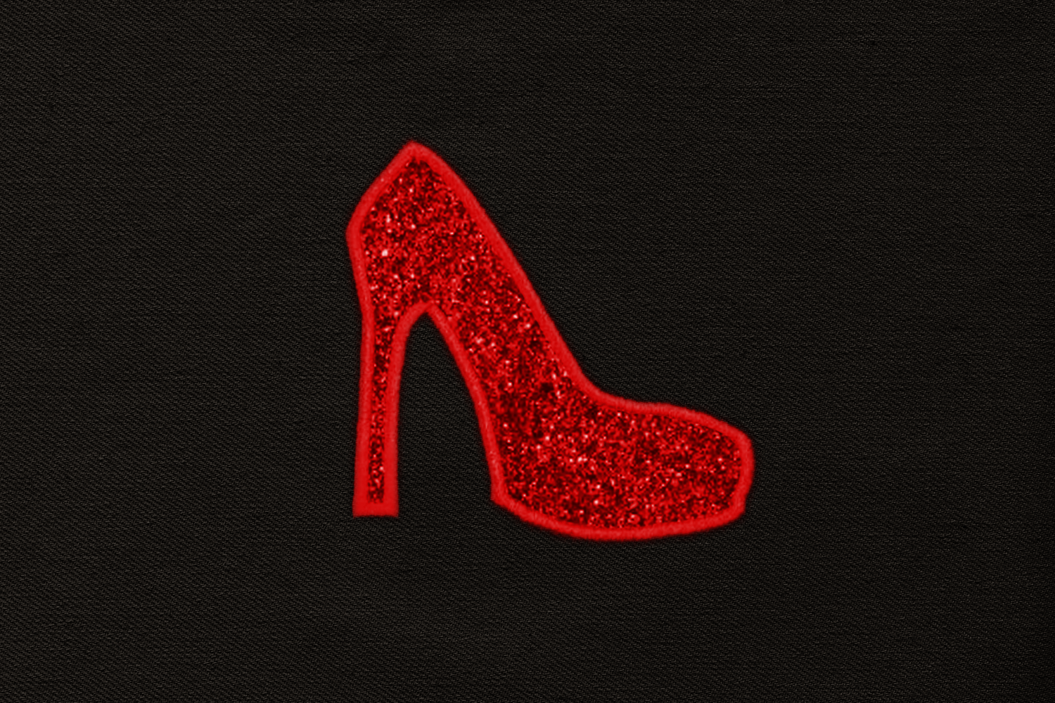High Heel Pump Applique Embroidery Design example image 2