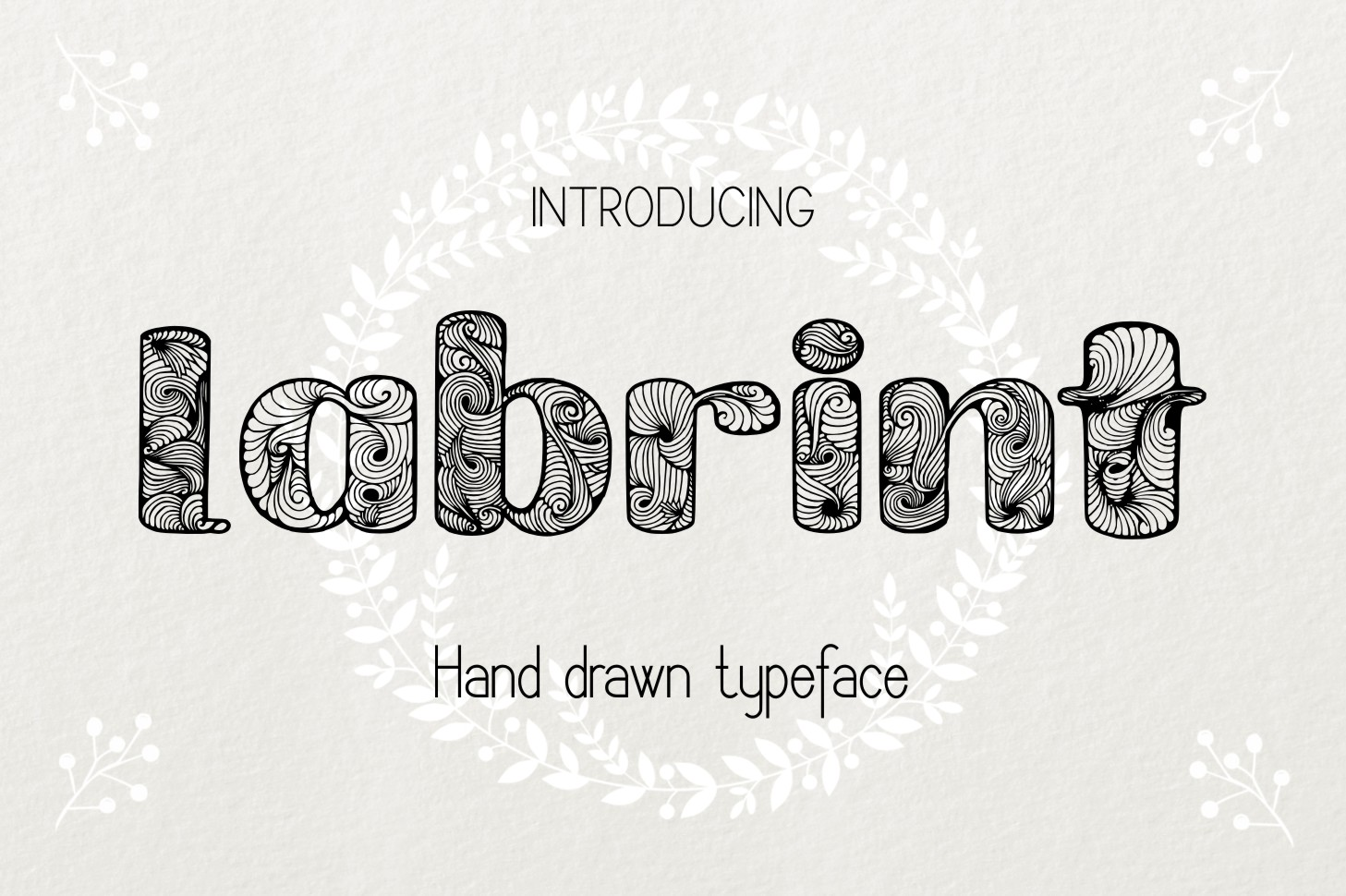 Labrint font example image 1