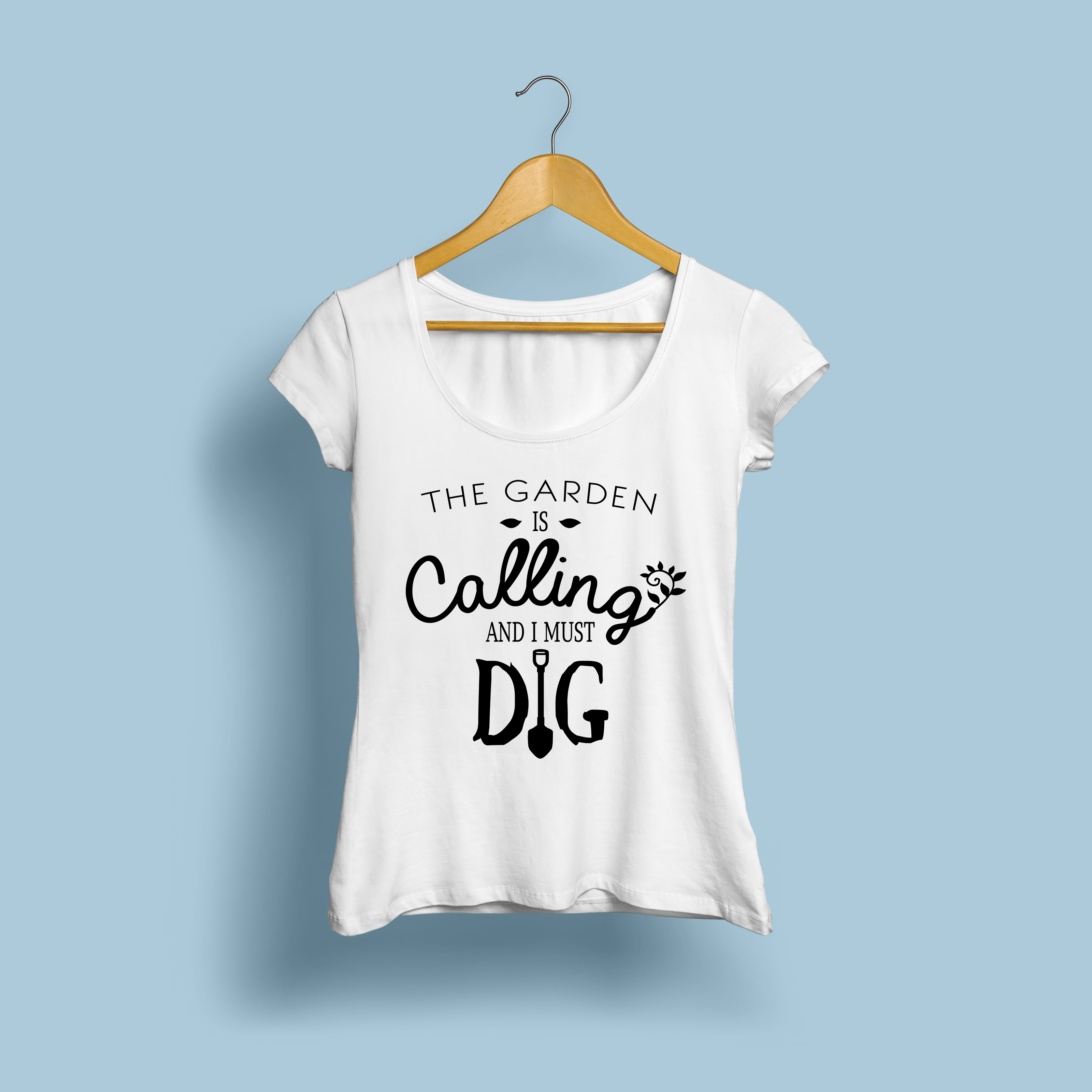 The Garden Is Calling and I Must Dig | Cut File SVG | PNG example image 3