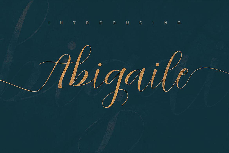 Abigaile Script Font example image 5