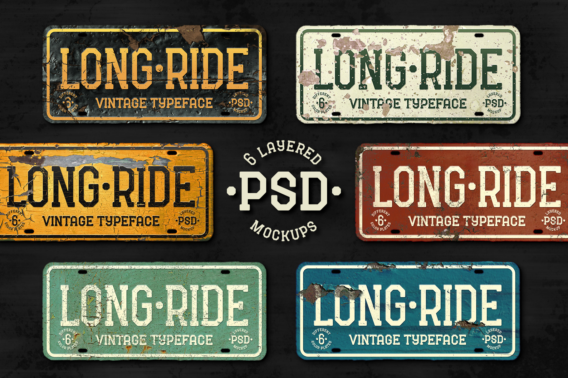 Long Ride. Font & Mockup example image 4