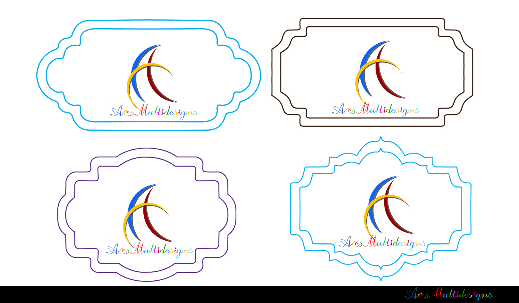 Label clipart bundle / digital label clipart bundle / frames bundle / high quality frames / digital frames clip art / label clipart example image 6